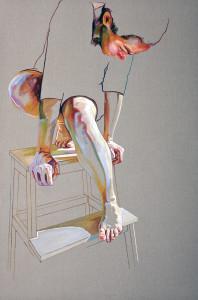 Pedestal - 150 x 100 cm acrilic and oil on canvas 2011