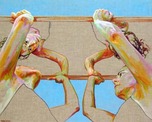 ROOF acrylic on linen canvas 80 x 100 cm 2015