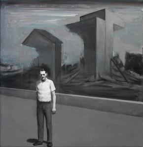 opera Jonathan Di Furia, Untitled, 2015, olio e acrilico su tela, 40x40cm