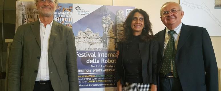 Festival internazionale robotica Pisa cartolina