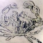 Granchio, 2015, olio su tela