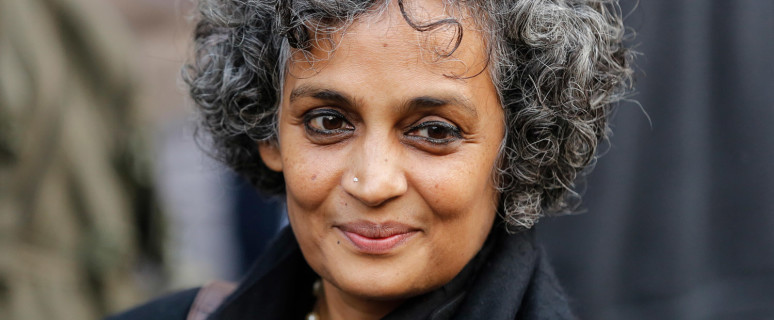 Delhi, India. 15th Dec 2013. Author and political activist Arundhati Roy at the event. Delhis LGBT community observed a 'Day of Rage' and came out in huge numbers to protest against the Supreme Courts December 11, 2013 ruling reinstating Section 377 of th