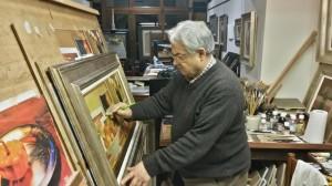 foto Carlo Lanini, uno dei vincitori della sezione pittura