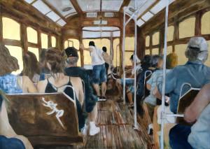Luz De Lisboa 100 x 70 cm, olio e orone su tela, 2016