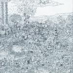 Misteri di Fufluns, inchiostro su tela,  100x50cm, 2017