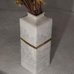 Vaso, inchiostro e orone su vaso recuperato, 11x11x33 cm, 2016