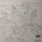 Vino, inchiostro su carta, 30x21cm, 2017