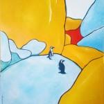2008, Penguins. Acrylic, 70x100.