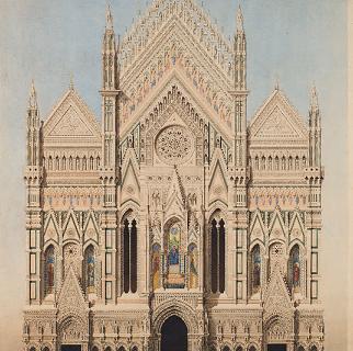 facciata Archimede Sacchi, proposta per la facciata del Duomo di Firenze, 1861