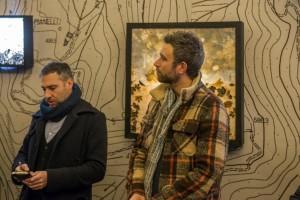 il curatore Andrea Baffoni e l'artista Roberto Ghezzi - foto di Paolo Emilio Sfriso