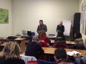 il presidente di Cia Toscana Centro Sandro Orlandini e il coordinatore del progetto per l'agricoltura sociale Enrico Vacirca