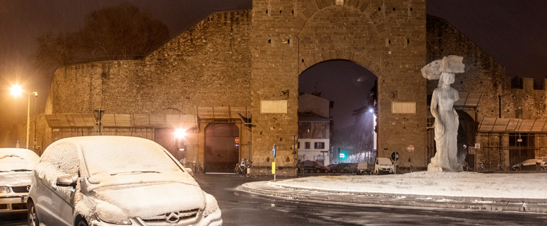 porta romana neve notte 1 marzo 2018 lg