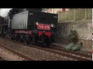 Nostalgie del passato: il treno a vapore a Castiglioncello