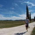 Il vincitore dell'edizione 2017 Marco Mengozzi in gara