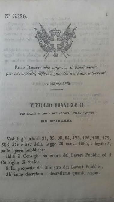 regio decreto polizia idraulica