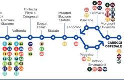percorso nuova tramvia
