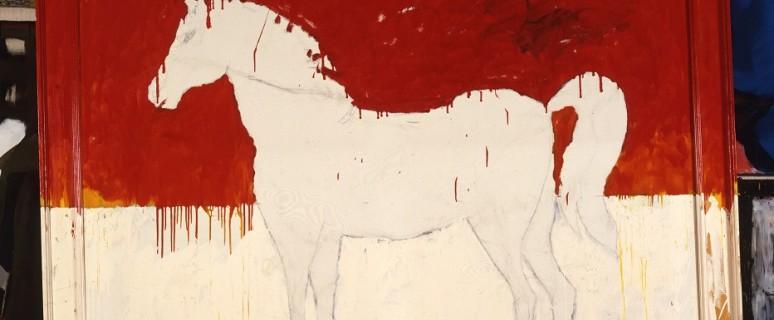 Mario Schifano_Grande scultura equestre 1980_foto Salvatore Licitra