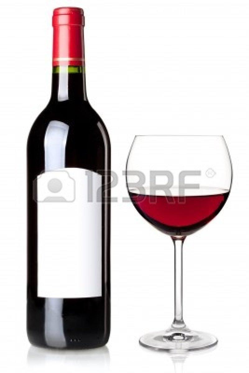 Vino Rosso In Bottiglia Con